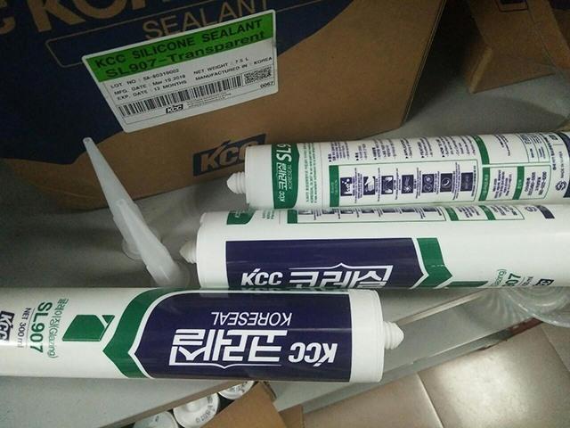 cách dùng keo silcone KCC SL907