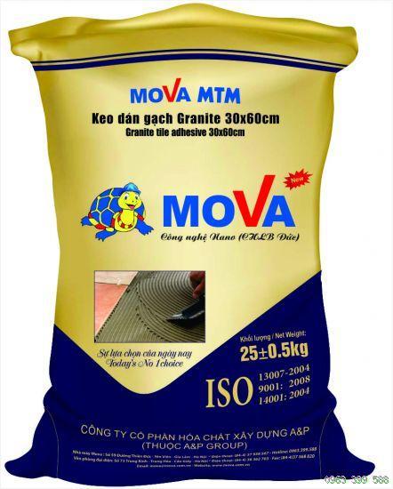 Keo dán gạch đá MOVA -MTM lát cực nhanh mà không gây ố màu gạch