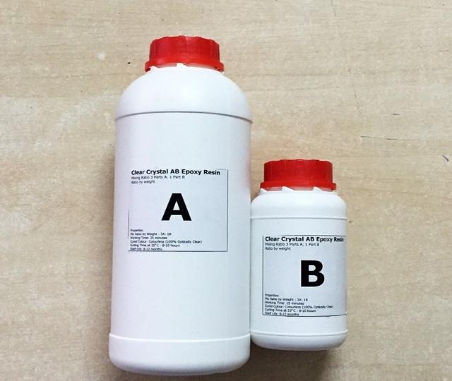 Keo ab epoxy resin 2 thành phần trong suốt đổ khuôn, bàn, sàn nhà 3D