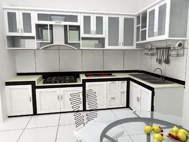 keo dán nhôm với tủ bếp