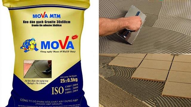 [Hướng dẫn] Thi công keo dán gạch đá lát sàn và ốp tường Mova